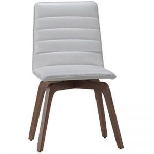 Volente Dining Chair | Walnut + Cream | Modern Furniture