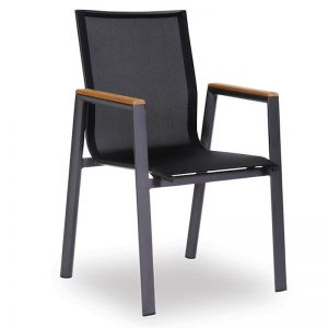 Vydel Outdoor Armchair   Matt Charcoal