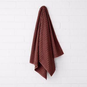 Waffle Bath Towel | Mahogany | by Aura Home