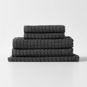 Waffle Bath Towel Set | Charcoal by Aura Home