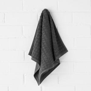Waffle Hand Towel | Charcoal by Aura Home