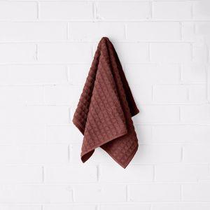 Waffle Hand Towel | Mahogany | by Aura Home
