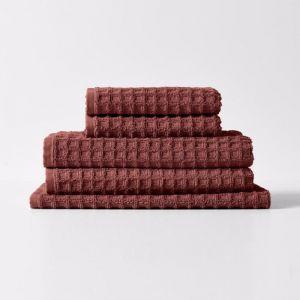 Waffle Towel Set | Mahogany by Aura Home