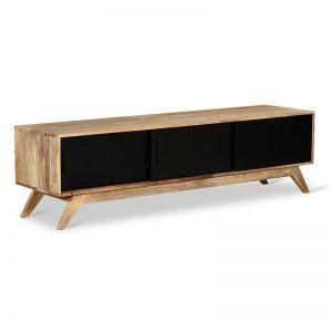 WALDO Entertainment Unit 1.8M | Natural & Black | Modern Furniture