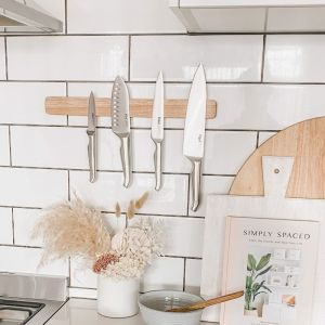 Wall Mounted Knife Holder | Wooden Magnetic
