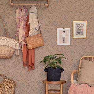 Wallpaper | Animal Dots | Soft Brown