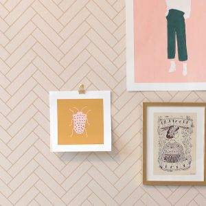 Wallpaper | Herringbone | Sandy Beige