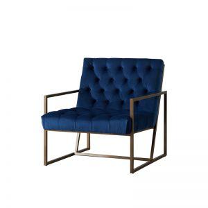 Walter Occasional Chair| Velvet | Navy