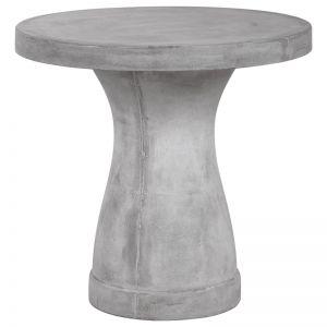 Wanda Round 80x75cm Concrete Table, Stone Grey   Schots