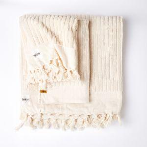 Wanderer Stripe Luxe Bath Sheet   Natural