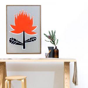 Waratah Silkscreen Print | Unframed