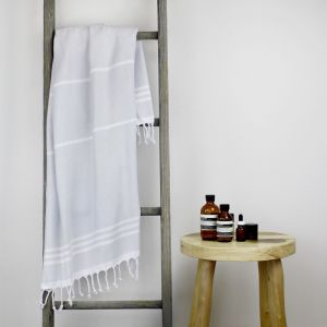 Wategos Turkish Towel | Various Colours | Antique Grey & White