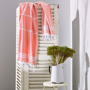 Wategos Turkish Towel | Various Colours | Melon & White