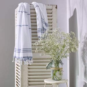 Wategos Turkish Towel | Various Colours | White & Blue