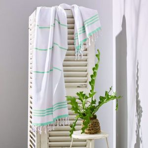 Wategos Turkish Towel | Various Colours | White & Mint