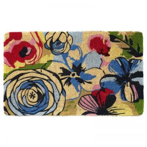 Watercolour 100% Coir Doormat | Welcome Mat | Entry Mat | Fab Habitat