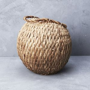 *Waterhyacinth Cobra Basket with Handle - delivery Oct/Nov 2019
