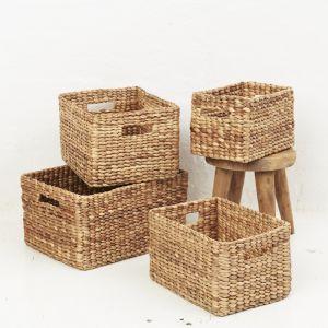 Waterhyacinth rectangular storage baskets l Pre Order