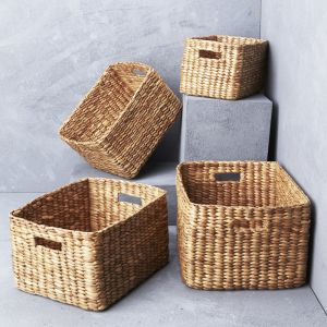 Waterhyacinth rectangular storage baskets l Pre Order