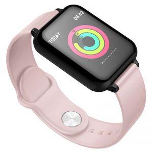 Waterproof Fitness Smart Wrist Watch Heart Rate Monitor Tracker Pink