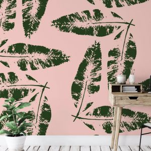 We're Leafing - Garden Love | Eco Wallpaper | Blush Pink | Amba Florette