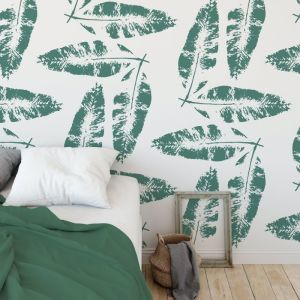 We're Leafing - Garden Love | Eco Wallpaper | Green | Amba Florette