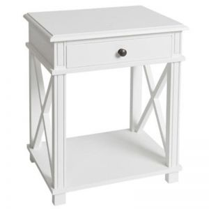 West Coast Bedside Table   White