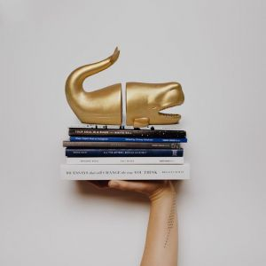 Whale Bookends | Gold | White Moose
