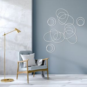 Whirl Wall Sculpture | White