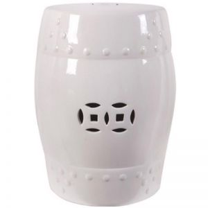 White Ceramic Stool