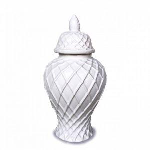 White Diamond Temple Jar   Small   by Hampton Lane