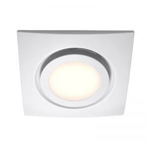 White Exhaust fan with LED Light | By Beacon Lighting