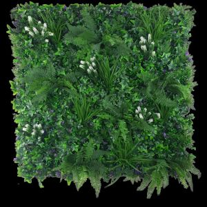 White Flowering Jungle Vertical Garden | Green Wall UV Resistant 1m x 1m