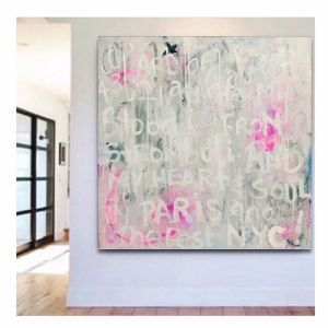 White Graffiti | Original Artwork on Canvas | by Melissa LaBozzetta