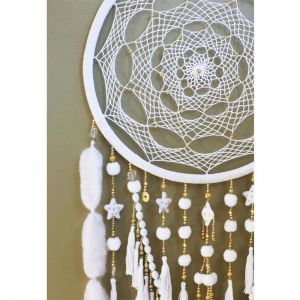 White Lullaby | Oversized Dreamcatcher