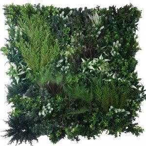 White Lush Lavender Field Vertical Garden | Green Wall UV Resistant | 90cm x 90cm