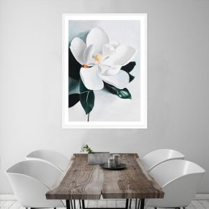 White Magnolia II Premium Art Print (Various Sizes)