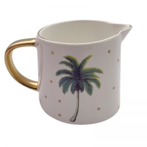 White Mini Palm Jug