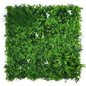 White Oasis Vertical Garden | Green Wall UV Resistant | 1m x 1m
