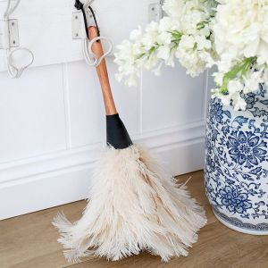 White Ostrich Feather Duster 35 cm