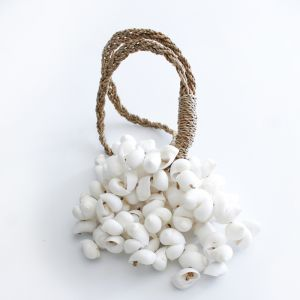 White Shell Tassel - Large