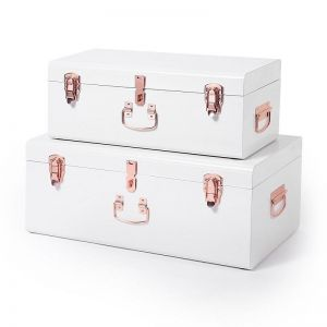 White Storage Case by Belle and Co Living