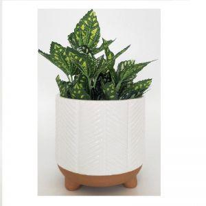 White Zari Planter