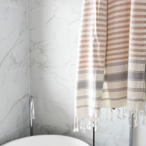 Whitehaven Turkish Towel | Various Colours | Latte & Grey