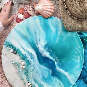 Whitsundays   Marie Antuanelle   Round Acrylic Print