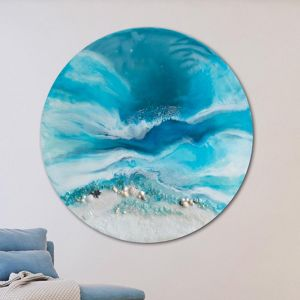 Whitsundays   Round Acrylic Beach Artwork   Limited Edition Print   Antuanelle