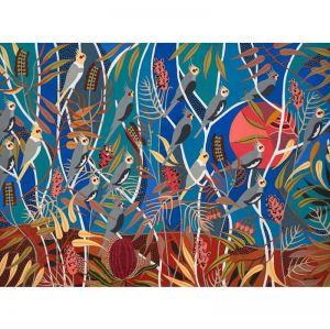 Wild Cockatiels | Stretched Canvas Print