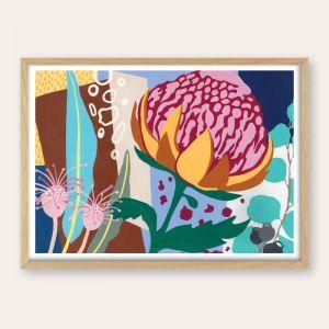 Wild Waratah   Unframed Fine Art Print