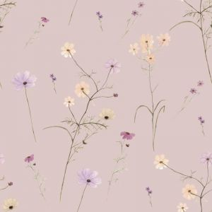 Wildflower Garden Blush Wallpaper