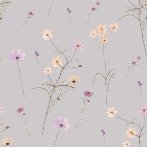 Wildflower Garden Lilac Wallpaper